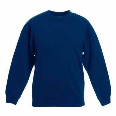 Basis donkerblauwe truien/sweaters meisjeskleding