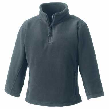 Basis grijze fleece truien jongenskleding