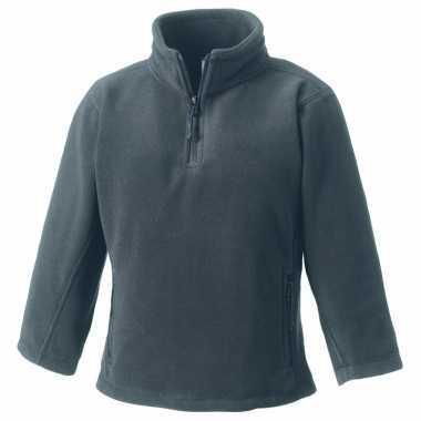 Basis grijze fleece truien meisjeskleding