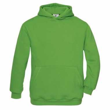 Basis groene vesten met buidelzak meisjeskleding