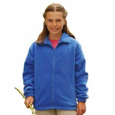 Basis kobalt blauwe fleece vesten meisjeskleding