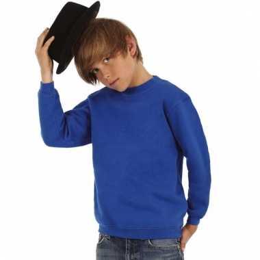 Basis koningsblauwe truien/sweaters jongenskleding