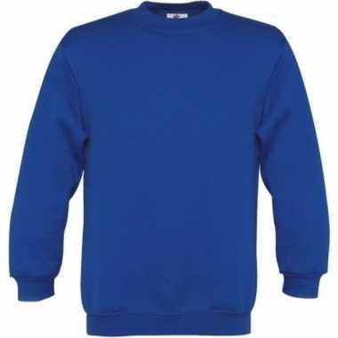 Basis koningsblauwe truien/sweaters meisjeskleding