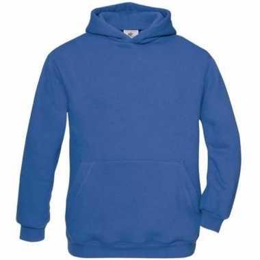 Basis koningsblauwe vesten met buidelzak meisjeskleding