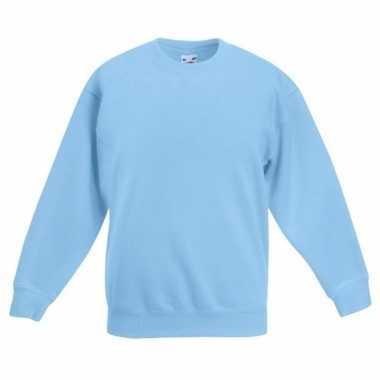 Basis lichtblauwe truien/sweaters meisjeskleding