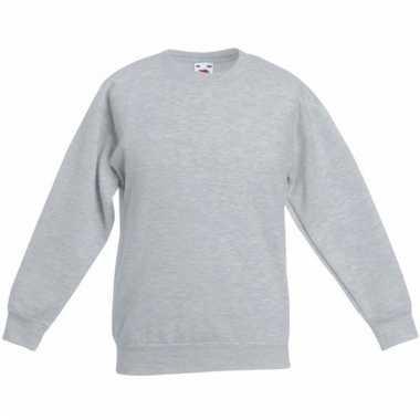 Basis lichtgrijze truien/sweaters meisjeskleding