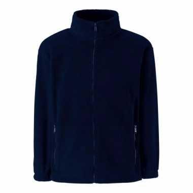 Basis navy blauwe fleece vesten meisjeskleding