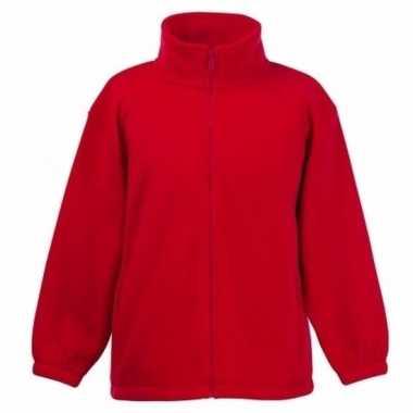 Basis rode fleece vesten jongenskleding