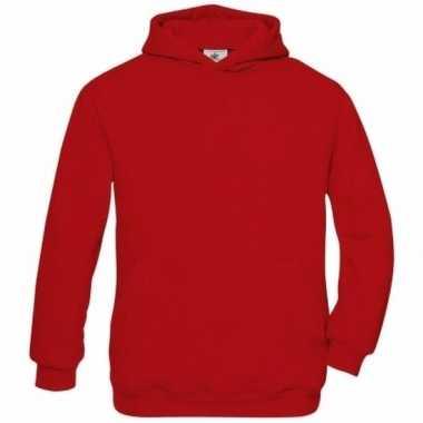 Basis rode vesten met buidelzak meisjeskleding