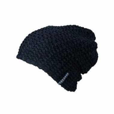 Basis wintermuts beanie zwart