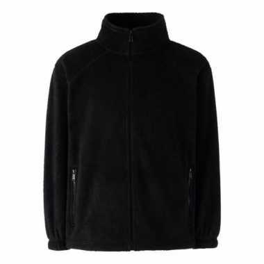 Basis zwarte fleece vesten meisjeskleding