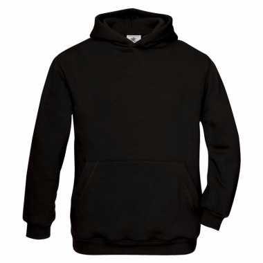 Basis zwarte vesten met buidelzak meisjeskleding