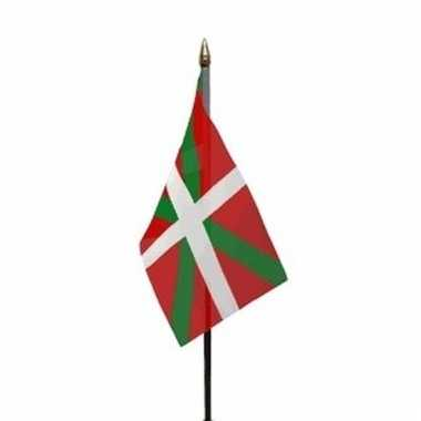 Baskenland luxe zwaaivlaggetje polyester