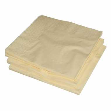 Bbq servetten creme kleur 25 stuks