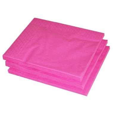 Bbq servetten fuchsia roze kleur 25 stuks