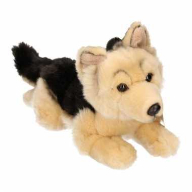 Beige duitse herder pup pluche 26 cm