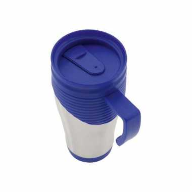 Beker thermos rvs 400 ml blauw
