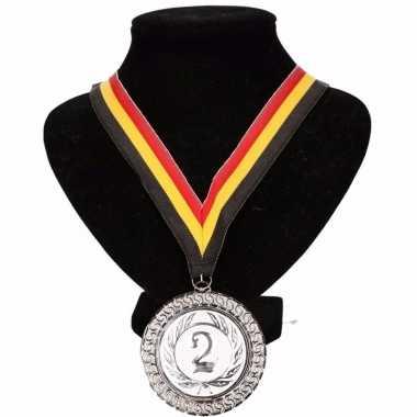 Belgie medaille nr. 2 halslint geel/rood/zwart