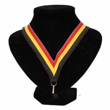 Belgie supporters halslint zwart/geel/rood