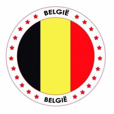 Belgie vlag print bierviltjes