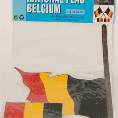 Belgische vlag stickerset 4 stuks