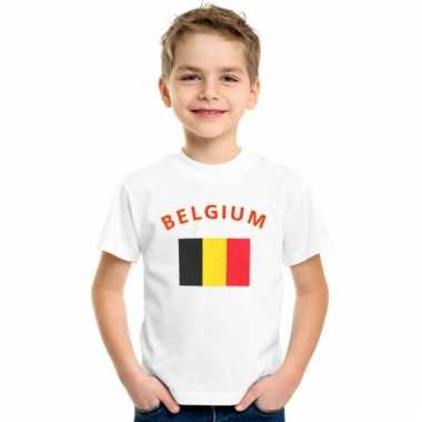 Belgische vlaggen t-shirts voor kinderen