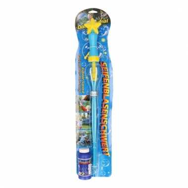 Bellenblaas zwaarden blauw 53 cm