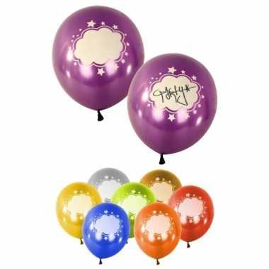 Beschrijfbare gekleurde ballonnen