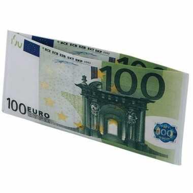 Beurs met 100 euro biljet afbeelding
