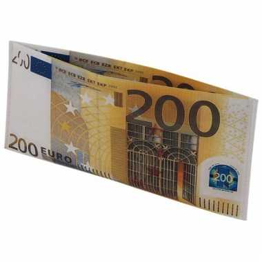 Beurs met 200 euro biljet afbeelding