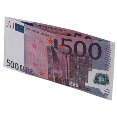 Beurs met 500 euro biljet afbeelding