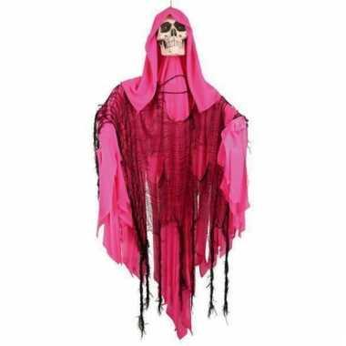 Bewegend skelet roze 110 cm