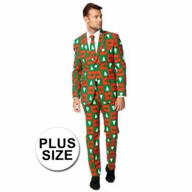 Big sized compleet kostuum in kerst stijl