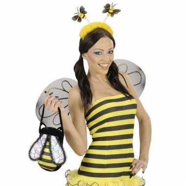 Bijen haarband geel