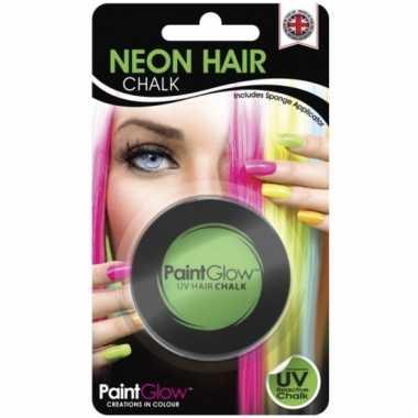 Blacklight groen haarkrijt