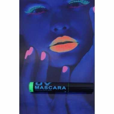Blacklight mascara groen
