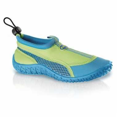 Blauw/groene kids waterschoenen watersport