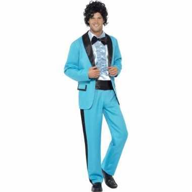 Blauw jaren 80 kleding pak heren