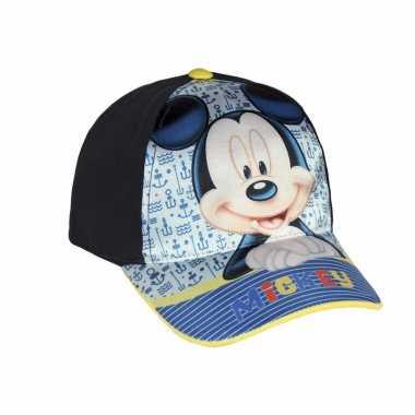 Blauw kinderpetje van mickey mouse
