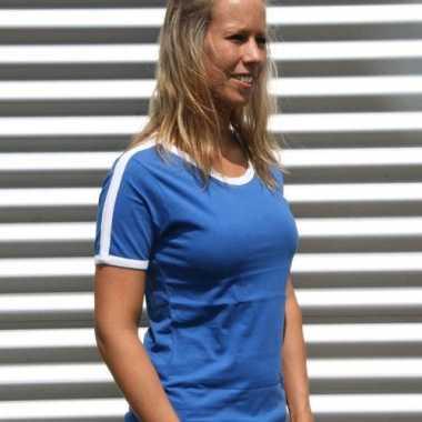 Blauw met wit shirtje voor dames