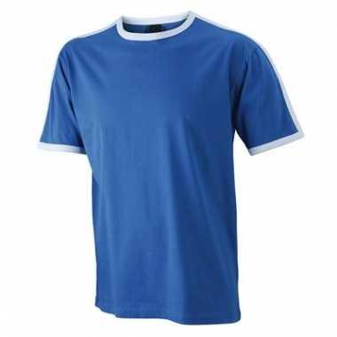 Blauw met wit shirtje voor heren