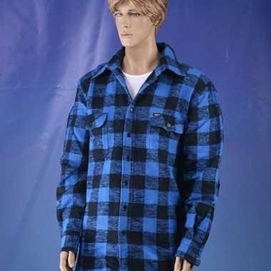 Blauw met zwart overhemd houthakkers