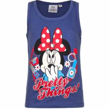 Blauw mouwloos minnie mouse shirt