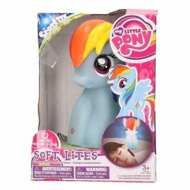 Blauw my little pony lampje/nachtlampje 15 cm