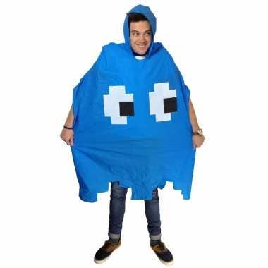 Blauw pacman spookje regenponcho