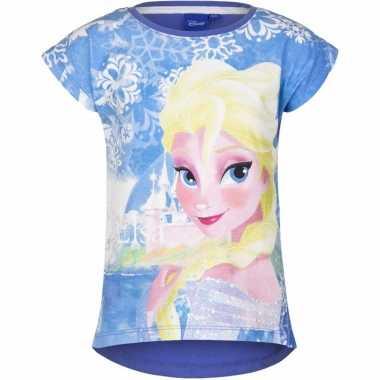 Blauw shirt frozen voor meisjes