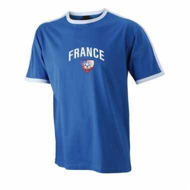 Blauw shirtje france print