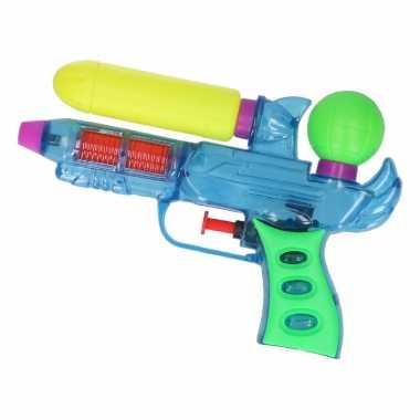 Blauw waterpistooltjes 18 cm