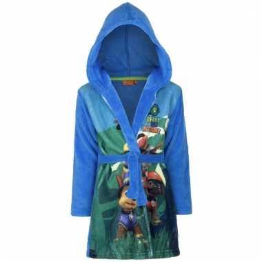 Blauwe badjas paw patrol voor kids