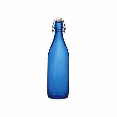 Blauwe beugeldop fles